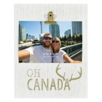 """""""Oh Canada"""" 4-Inch x 6-Inch Wood Clip Picture Frame"""