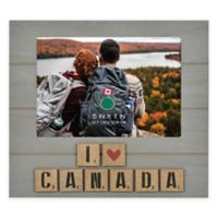 """I Love Canada"" 5-Inch x 7-Inch Wood Picture Frame"