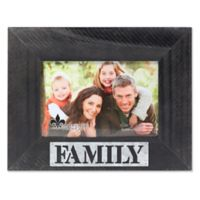 """Lawrence Frames 4-Inch x 6-Inch """"Family"""" Distressed Wood Picture Frame"""