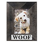 "Lawrence Frames 4-Inch x 6-Inch ""Woof"" Distressed Wood Picture Frame"