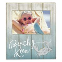 "Coastal ""Beachy Keen"" 4-Inch x 6-Inch Wood Picture Frame"
