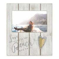 """Coastal """"To The Beach and Back"""" 4-Inch x 6-Inch Wood Picture Frame Collection"""