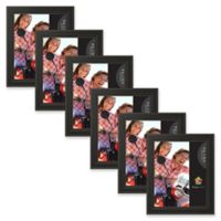 Uniek Keiva Matted 8-Inch x 10-Inch Picture Frame in Black ( Set of 6)