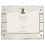 Prinz Homestead 4-Inch x 6-Inch Wood Plank Clip Picture Frame in White