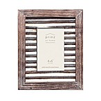 Prinz 4-Inch x 6-Inch Galvanized Metal and Wood Picture Frame in Natural