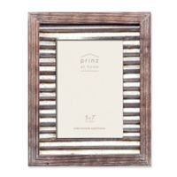 Prinz 5-Inch x 7-Inch Galvanized Metal and Wood Picture Frame in Natural