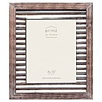 Prinz 8-Inch x 10-Inch Galvanized Metal and Wood Picture Frame in Natural