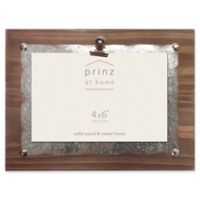 Prinz Boardman 4-Inch x 6-Inch Wood Clip Frame with Metal Plate in Natural