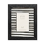 Prinz 4-Inch x 6-Inch Galvanized Metal and Wood Picture Frame in Black