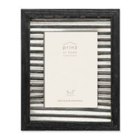 Prinz 5-Inch x 7-Inch Galvanized Metal and Wood Picture Frame in Black