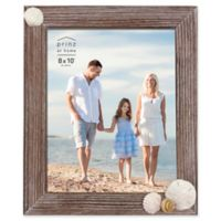 "Prinz Coastal 8"" x 10"" Shell Accented Wood Picture Frame"