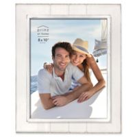 Prinz Coastal 8-Inch x 10-Inch Grooved Wood Plank Picture Frame in White
