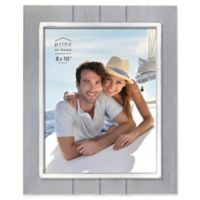 Prinz Coastal 8-Inch x 10-Inch Grooved Wood Plank Picture Frame in Grey