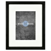 Gallery 5-Inch x 7-Inch Matted Wood Frame in Black