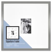 Gallery Signature Matted Brushed Metal 5-Inch x 7-Inch Frame in Grey