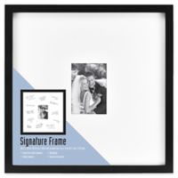 Gallery Signature Matted Brushed Metal 5-Inch x 7-Inch Frame in Black