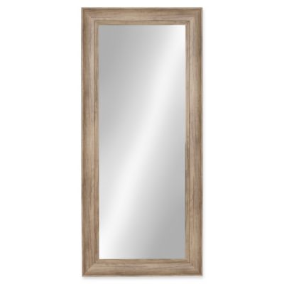 kate and laurel macon 16inch x 36inch panel wall mirror in rustic