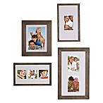 Gallery 4-Piece Wood Picture Frame Set in Grey