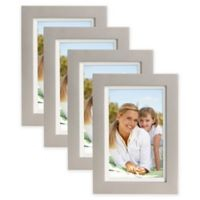 Muse 4-Inch x 6-Inch Wood Picture Frame in Silver/White (Set of 4)