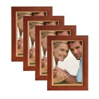 Muse 5-Inch x 7-Inch Wood Picture Frame in Brown/Natural (Set of 4)