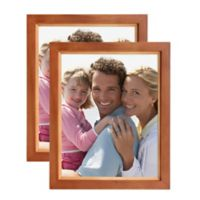 Muse 8-Inch x 10-Inch Wood Photo Frame in Brown/Natural (Set of 2)