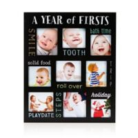 Pearhead® Baby's Year of Firsts Chalkboard Frame in Black
