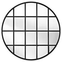 Forest Gate 40-Inch Round Beveled Window Mirror