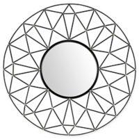 Forest Gate 35-Inch Round Geometric Frame MIrror