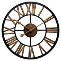 Infinity Instruments Micro Fusion 14-Inch Wall Clock in Black/Copper