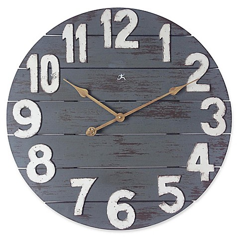 image of Infinity Instruments Tree House 24-InchWall Clock in Gray