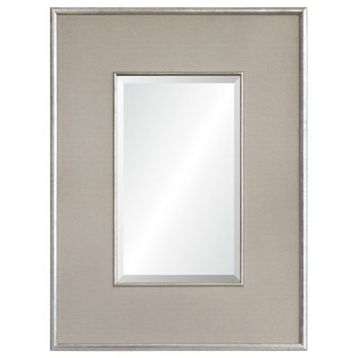 ren wil dexter antique silver framed wall mirror - Metal Mirror Frame