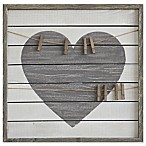Heart Pine Wood Framed Wall Décor with Clips