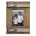 Wood & Metal 3-Inch x 5-Inch Photo Frame
