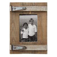 Wood & Metal 3-Inch x 5-Inch Photo Frame