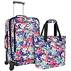 U.S. Traveler Langford 2-Piece Luggage Set in Flower