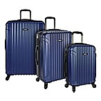 U.S. Traveler Akron 3-Piece Hardside Spinner Luggage Set in Navy