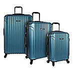 U.S. Traveler Akron 3-Piece Hardside Spinner Luggage Set in Teal
