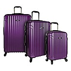 U.S. Traveler Akron 3-Piece Hardside Spinner Luggage Set in Puple