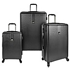 U.S. Traveler Sparta 3-Piece Hardside Spinner Luggage Set in Charcoal