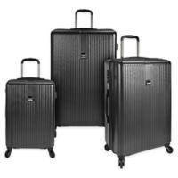 U.S. Traveler Sparta 3-Piece Hardside Spinner Luggage Set in Charcoal