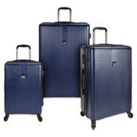 U.S. Traveler Sparta 3-Piece Hardside Spinner Luggage Set in Navy