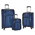 Travelers Club® Hartford 3-Piece Soft Side Luggage Set in Navy
