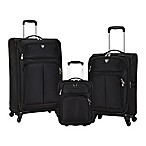 Travelers Club® Hartford 3-Piece Soft Side Luggage Set in Black