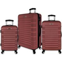 Elite Luggage 3-Piece Tustin Spinner Luggage Set in Red