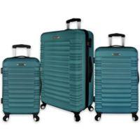 Elite Luggage 3-Piece Tustin Spinner Luggage Set in Teal