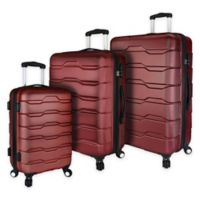 Elite Luggage 3-Piece Omni Spinner Luggage Set in Red