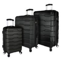 Elite Luggage 3-Piece Omni Spinner Luggage Set in Black