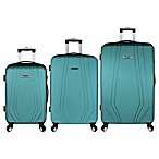 Elite Luggage Paris 3-Piece Hardside Luggage Set in Teal