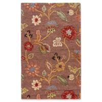 Jaipur Blue Collection Floral 2-Foot x 3-Foot Accent Rug in Brown/Yellow