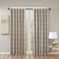 SunSmart Cassius 84-Inch Rod Pocket/Back Tabs Total Blackout Window Curtain Panel in Charcoal